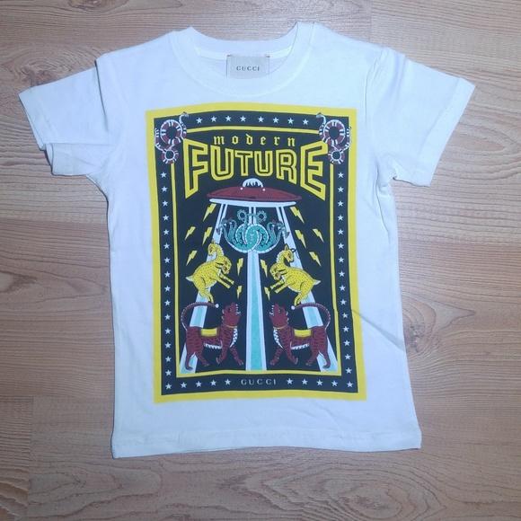 754ed6e32 Gucci Shirts & Tops | Boys Graphic Print T Shirt | Poshmark